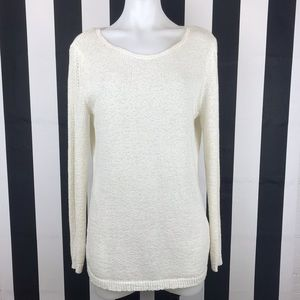 5 for $25 Rachel Zoe White Cable Knit Sweater